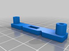 Mount plates for Subwoofer Amp 3D Print Model