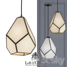 Chandelier Geometry Glass Light Pendant Milk                                      3D Model