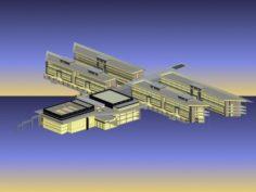 School building 041 3D Model