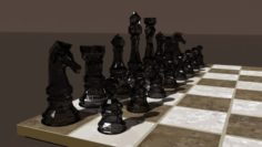 Low Poly Chess 3D Model