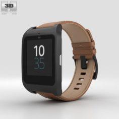 Sony SmartWatch 3 SWR50 Leather Brown 3D Model