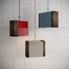 3 COLOR WOOD PENDANTS LAMPS 3D Model