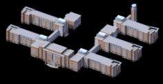 School building 076 3D Model