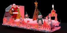 Merry Christmas Truck 3D Model