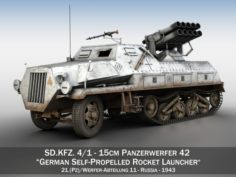 SDKFZ 4 – Panzerwerfer 42 – WA11 3D Model