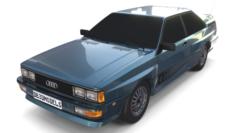 1981 Audi Coupe Quattro Dark Blue 3D Model