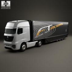 Mercedes-Benz Future Truck with Trailer 2025 3D Model