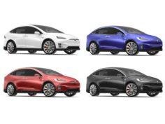 2017 Tesla X Multi Colors 3D Model