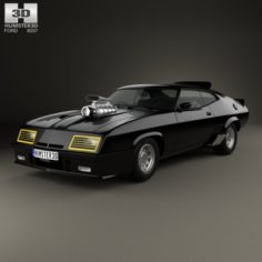 Ford Falcon GT Coupe Interceptor Mad Max 1979 3D Model