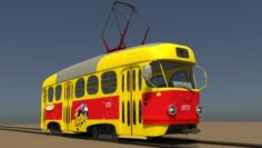 Artoon tram 3D Model