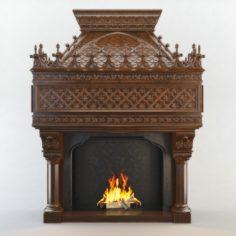 Gothic Fireplace CNC 3D Model