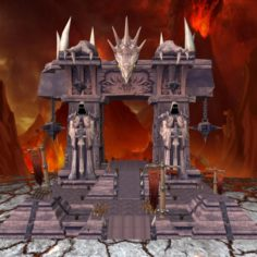 Entry Gate of Hell 3D Model