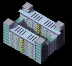 School building 087 3D Model