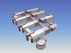 School building 099 3D Model
