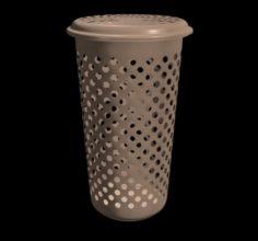 Plastic Cloth Bucket 3D Model