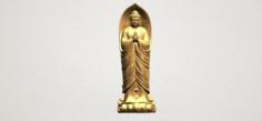 Gautama Buddha Standing 04 3D Model