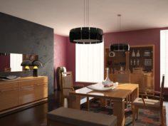 Dining Room Set StTropez 3D Model