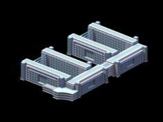 School building 086 3D Model