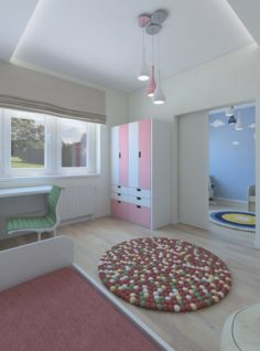 Very cozy double room for the child 3D Model