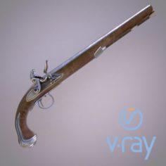 Flintlock pistol model 3D Model