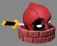 Deadpool Peeking 3D Model