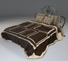 Draped Heavy Cloth Bed 3D Model