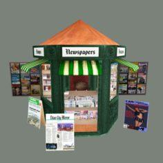 newsstand 3D Model in  MAX,  FBX,  C4D,  3DS,  STL,  OBJ