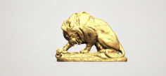 Lion 03 with snake 3D Model