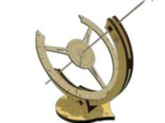 Equatorial solar clock type desktop for laser cutting 3D Print Model