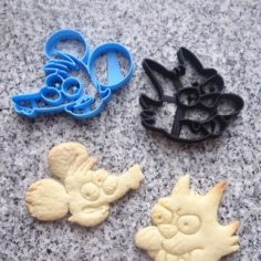 ITCHY AND SCRATCHY COOKIE tom and daly 3D Print Model