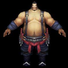 Fatty Man Character 3D Model