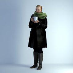 3D Scan Woman Winter 004 3D Model
