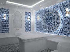White turkish hamam 3D Model
