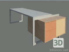 3D-Model  Desktop table