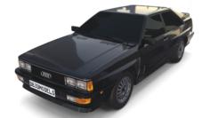 1981 Audi Coupe Quattro Black 3D Model