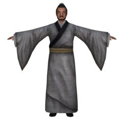 Chinese Man Character 02 3D Model