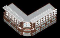 School building 071 3D Model