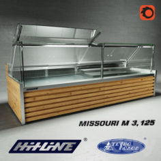 OM Refrigerated showcase Missouri M 3.125 D                                      Free 3D Model