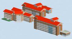 School building 129 3D Model
