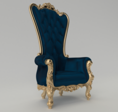 King chair 3D Model
