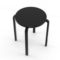 Fosta IKEA tabouret dark wood 3D Model