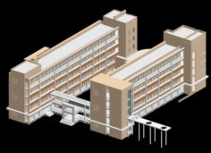 School building 150 3D Model