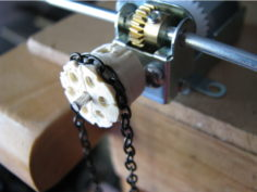 Parametric Chain Link Drive Pulley 3D Print Model