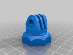 GoPro Tripod Adapter with 6mm thread 3D Print Model