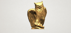 Owl 02 3D Model