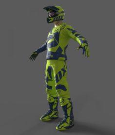 Motocross Racing Suit 3D Model