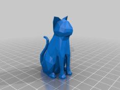 Polygonal Cat 3D Print Model