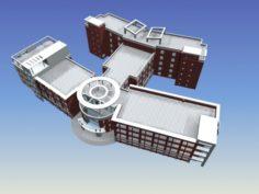 School building 100 3D Model