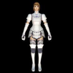 Warrior princess Girl 3D Model