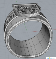 Ring Ad majorem Dei gloriam 3D Model